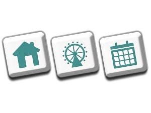 home wheel calendar icons