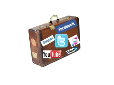 suitcase social media stickers