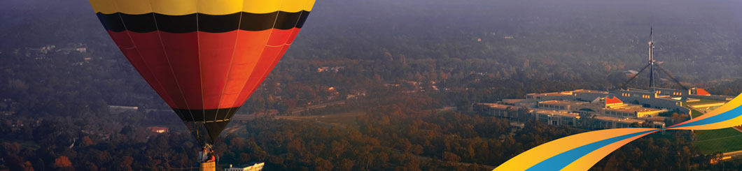 Listing With ATDW - Hot Air Balloon banner