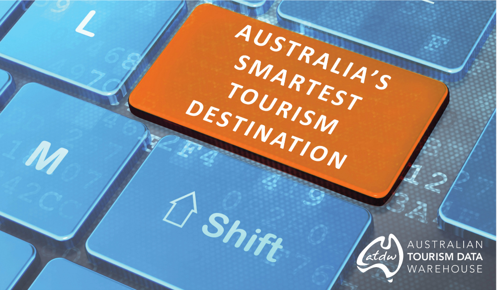 Australia's Smartest Tourism Destination keyboard key