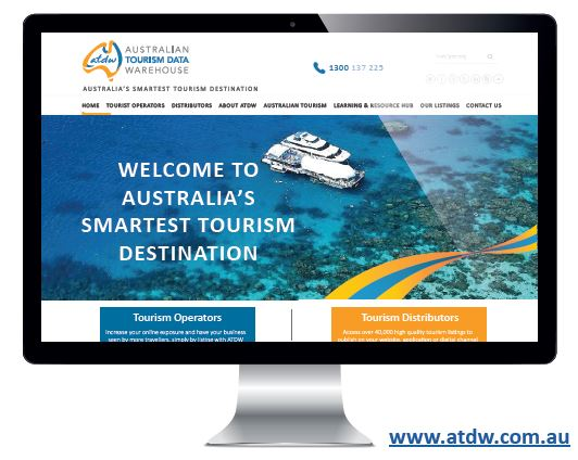 ATDW website on computer monitor