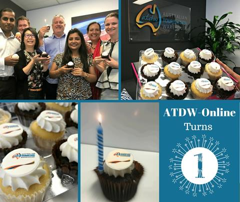 ATDW-Online turns 1 cupcake staff collage