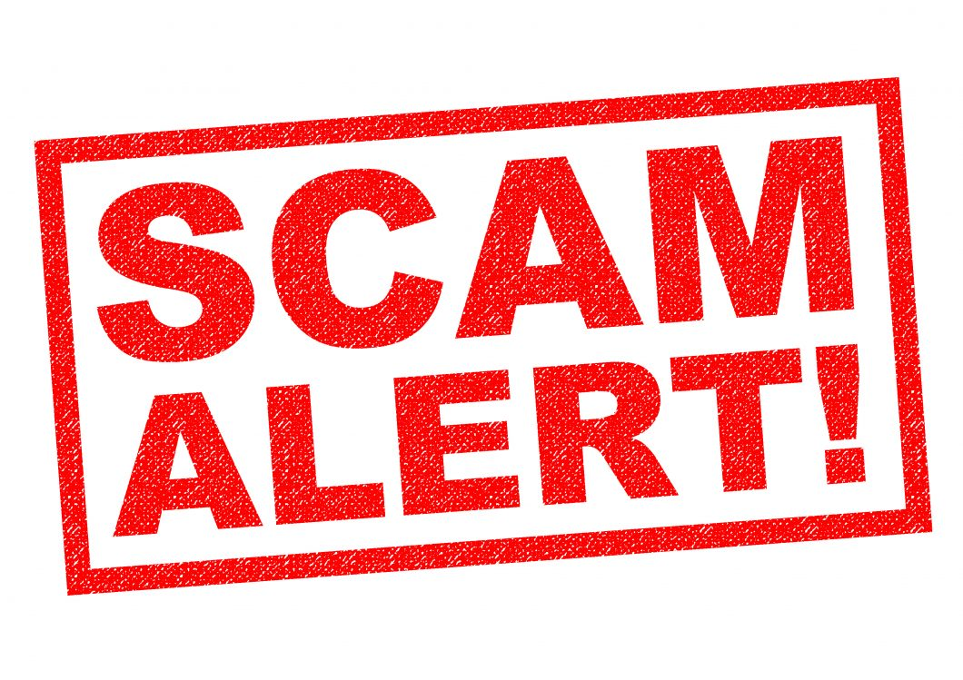 SCAM ALERT! Red Rubber Stamp